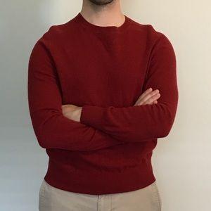 Banana Republic Crew Neck Sweater in red